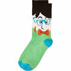 Green bow tie man print ankle socks #riverisland #rimenswear