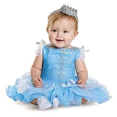 e88a29c96d3db Amazon.com: Disney Disguise Baby Girls' Cinderella Prestige Infant Costume:  Clothing
