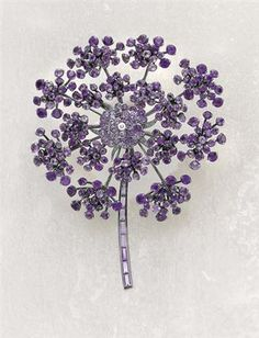 RENÉ BOIVIN, Diamond and Amethyst Brooch (2005)