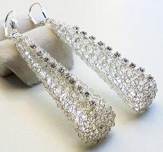 wire weaving jewelry | Wire Crochet Earrings Giveaway by ALM Jewelry - The Beading Gem's ...