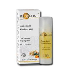 Bioreline Vitamized Serum by Bioreline. $24.97. Made in France. 30ml/1.0 FL.OZ.US. 95% Organic. Hydrates and Nourishes. Recommended for dull, tired looking skin. Beauty Effect  Revive your complexion Revitalise your skin Make your skin look healthy    Sensation  Aroma: Citrus (Red mandarin) Texture: Fresh gel Result: Smoothness, freshness    How to Use  Ensure your face is completely clean. Apply all over at mornings and evenings. Follow with your daily moisturise...