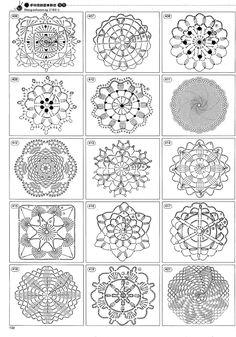Crochet motifs by Banphrionsa Mandala Au Crochet, Crochet Motif Patterns, Crochet Symbols, Crochet Circles, Crochet Chart, Thread Crochet, Crochet Doilies, Crochet Flowers, Free Crochet