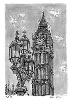 Big Ben - drawings and paintings by Stephen Wiltshire MBE
