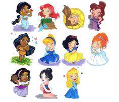 Resultado de imágenes de Google para http://images5.fanpop.com/image/photos/25100000/Chibi-Princesses-disney-princess-25129173-600-514.jpg