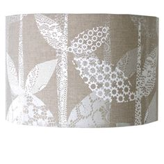 Hand Printed Lace Leaf Lampshade