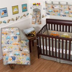 Tow Truck Baby Bedding