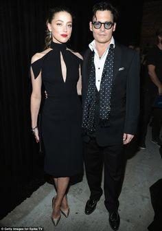 Johnny Depp - Dinner suit & polka dot scarf