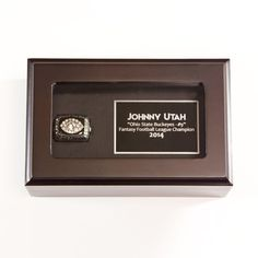 Check out our Authentic and High Quality Fantasy Football Rings. Fantasy Football Rings, Ohio Football, Ring Displays, Display Case, Laser Engraving, Clear Acrylic, Products, Glass Display Case, Display Window
