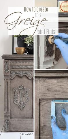 diy-restaurierung-hardware-greige-lackierung/ - The world's most private search engine Painted Furniture For Sale, Salvaged Furniture, Paint Furniture, Furniture Refinishing, Refurbished Furniture, Annie Sloan, Chalk Paint Bed, Restoration Hardware Paint, Painted Beds