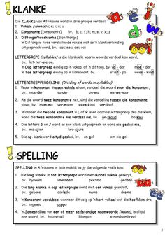 #ClippedOnIssuu from SkerpmakerB3 1st Grade Worksheets, Preschool Worksheets, Preschool Learning, Classroom Activities, Teaching Aids, Teaching Resources, Teaching Posters, Parts Of Speech Activities, Afrikaans Language