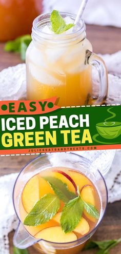 Searching for some easy drink recipes to quench your thirst this summer? Here's a summer drink that needs only 4 ingredients! Grab your fresh peaches and tea bags for this naturally sweetened Iced… Fun Drinks Alcohol, Fruity Drinks, Fun Cocktails, Healthy Drinks, Summer Drink Recipes, Easy Drink Recipes, Summer Drinks, Cocktail Recipes, Ham And Egg Sandwich