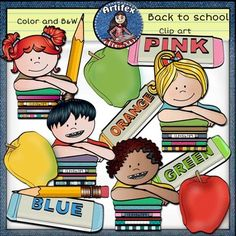 Back to school Clip Art set features 24 items: ► 12 clip arts in color. ► 12 clip arts in black & white. All images are 300dpi, Png files. This clipart license allows for personal, educational, and commercial small business use. If using commercially, or