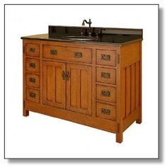 Craftsman And Mission Style Bathroom Vanities | American Craftsman,  Craftsman And Craftsman Style