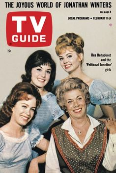 """TV Guide, February 1964 - """"Petticoat Junction"""" Linda Henning, Bea Benaderet, Pat Woodell and Jeannine Riley Petticoat Junction, 60s Tv, Vintage Television, This Is Your Life, Vintage Tv, Vintage Magazines, Vintage Stuff, Old Time Radio, Old Shows"""