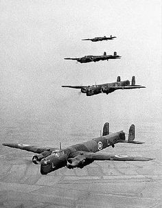 Box Canvas Print (other products available) - RAF Armstrong Whitworth Whitley bombers fly in formation during the Second World War. - Image supplied by PA Images - inch Box Canvas Print made in the UK Ww2 Aircraft, Military Aircraft, Royal Air Force, World War Two, Poster Size Prints, Wwii, Fighter Jets, Empire, Canvas Prints