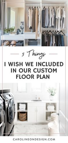Are you in the process of creating your custom floor plan and want to learn from others' experiences so you can avoid making any 'mistakes'? You're in luck because I'm sharing 5 things I wish I included in my custom floor plan! Read on for all the tips! Interior Decorating Tips, Interior Design Tips, Decorating Your Home, Mudroom Laundry Room, Laundry Room Design, Custom Floor Plans, House Floor Plans, Home Building Tips, Building Ideas