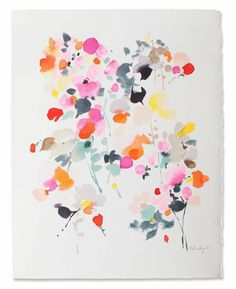 Helen Dealtry Original Paintings - Furbish Pop-Up Shop at EST Abstract Watercolor, Watercolor Flowers, Watercolor Paintings, Original Paintings, Watercolors, Floral Paintings, Abstract Flowers, Illustrations, Illustration Art