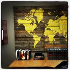 Pallet Art in Abraham's Office