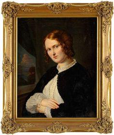 Gey, Leonhard 1838 Hannover - 1892 Dresden Damenportrait. Signiert. Datiert 1867. Öl/Lwd., 70 x 5
