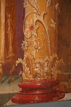 Detail of a fresco in the triclinum of the Villa of Poppea in Oplontis.