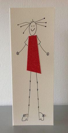 Hand made card by CassPaperDesigns via etsy Idea for Card Fridays!