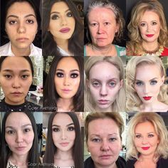 To the man, who was shocked by the power of makeup.