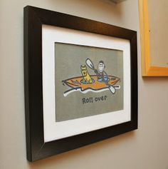 Great gift idea- frame an old t-shirt!