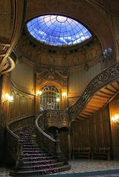 Gothic Victorian Staircase Check us out on Fb- Unique Intuitions #uniqueintuitions #gothic #victorian #staircase