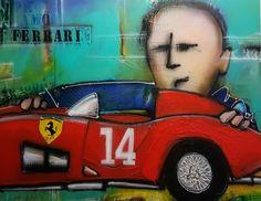 Mia bella Ferrari, schilderij van Patrick van Haren, Patrick van Haren | Abstract | Modern | Kunst