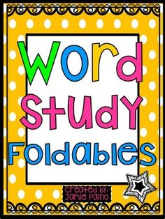 """These foldable/flipbooks are loved by children of all ages! They are a great addition to any word study lesson. My students love using foldables and have learned so much through them. They literally cheer when I say, """"It's foldable time!""""In this packet you will find foldable activities on the following:-Adjectives-Long and Short Vowels-Contractions-Irregular Plural Nouns-Adverbs-Verbs-Synonyms-Antonyms-Common and Proper Nouns-Nouns-Sparkle Words-Replacing ..."""