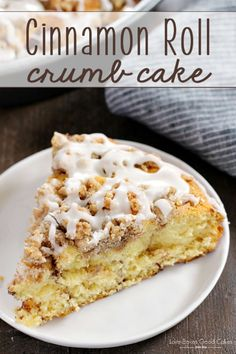 This Cinnamon Roll Crumb Cake starts with refrigerated cinnamon rolls - but you make it extra special with a homemade crumb topping! This recipe is perfect for Easter breakfast!