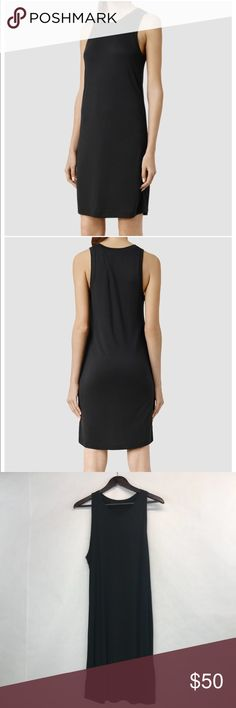 "All Saints Evis dress Cute casual yet fashionable tank dress. Estimated measurements: neckline to hem 38"", underarm to underarm 17 1/5"" (35""). Washed black All Saints Dresses"