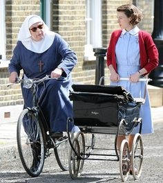 On to season 2! Jessica Raine and Pam Ferris return to film hit show Call The Midwife as they begin to shoot the second series in London