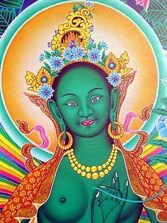 Really love Buddhist art and Green Tara especially :) Feng Shui Tradicional México Cursos Tibetan Art, Tibetan Buddhism, Buddhist Art, Ganesha, Mother Goddess, Tara Goddess, Green Tara, Sacred Feminine, Hindu Art