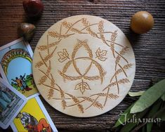 Lammas altar tile Lammas altar paten Lammas altar plaque   Etsy Wiccan Decor, Wiccan Altar, Triquetra, Witchcraft Symbols, Wooden Easel, Sabbats, Harvest, Gifts, Etsy