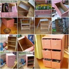 meuble boite en carton