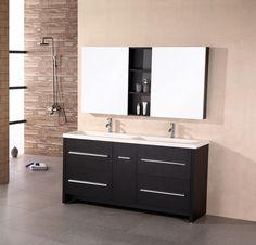 Perfecta 63 Double Sink Vanity Set in Espresso