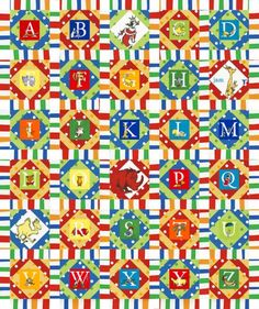 Alphabetical Free Pattern: Robert Kaufman Fabric Company  CAN BE PAER PIECED