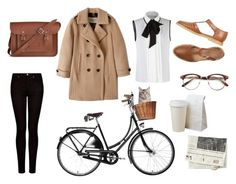 Brown by aryan-zarazua on Polyvore featuring polyvore, fashion, style, Andrew Gn, Burberry, MANGO and The Cambridge Satchel Company