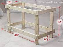 Basic workbench plans ideal good frame idea could have lots of other uses simple and osb construction makes this work bench an easy diy project Building A Workbench, Woodworking Workbench, Woodworking Crafts, Workbench Ideas, Workbench Organization, Workbench Designs, Workbench Top, Industrial Workbench, Simple Workbench Plans