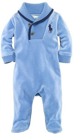 Ralph Lauren Polo infant Coveralls--Baby Tracy would look great in this little outfit :-D