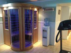 Workout room with an indoor sauna!!!