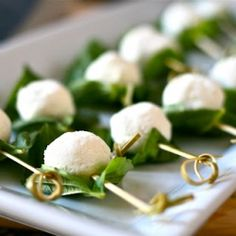 Basil Wrapped Goat Cheese Bites