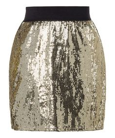 Take a look at this Gold Donner Skirt by StyleMint on #zulily today!