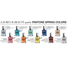Meet this season hottest Pantone colors in nail polish! Laurenbbeauty.com