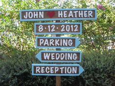 Personalized Wedding Signs 5 with Base  Name by PrattosCreations, $79.95