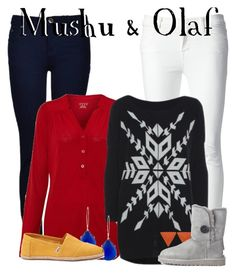 D30DC: Day 3 Mushu & Olaf by aritter102 on Polyvore featuring polyvore, fashion, style, AX Paris, Lands' End, J Brand, Ally Fashion, UGG, TOMS, Kendra Scott, Kate Marie and clothing