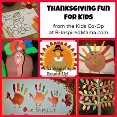 Thanksgiving Kids Activities from The Kids Co-Op+ Thanksgivingday activity, link up with art class, it can be fun time. ++Student can know about foreign festival and this activity will be good to understanding foreign culture.