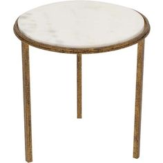 Hammered Gold Round Table*  $249.00