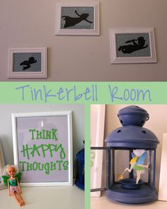 Tinkerbell Room I like the silhouettes